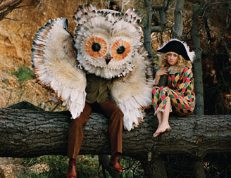 ...oh and a giant owl. Not even the Beatles had a giant owl...